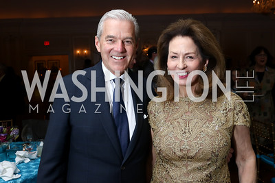 Jim and Nancy Rosebush. Photo by Tony Powell. Ruth Buchanan's 100th Birthday Party. Chevy Chase Club. February 22, 2018