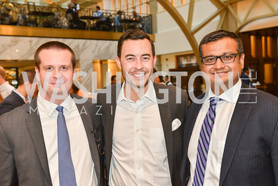 Kevin Dowling, Kyle Bonini, Raj Shaw, Sean Spicer Book Launch, The Briefing, Trump Hotel, July 26, 2018.  Photo by Ben Droz.