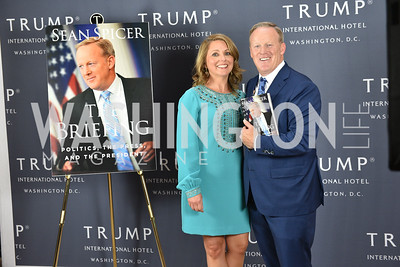 Sean Spicer Book Launch, The Briefing, Trump Hotel, July 26, 2018.  Photo by Ben Droz.