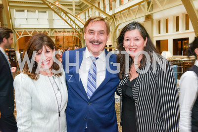 Robin Bernstein, Mike Lindell, Loretta Greene, Sean Spicer Book Launch, The Briefing, Trump Hotel, July 26, 2018.  Photo by Ben Droz.