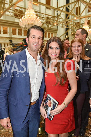 Kimberly Guilfoyle, Donald Trump, Jr., Sean Spicer Book Launch, The Briefing, Trump Hotel, July 26, 2018.  Photo by Ben Droz.