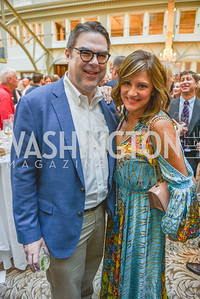 James Swanson, Pamela Parizek, Sean Spicer Book Launch, The Briefing, Trump Hotel, July 26, 2018.  Photo by Ben Droz.