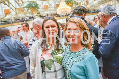 Sarah Huckabee Sanders, Rebecca Spicer,  Sean Spicer Book Launch, The Briefing, Trump Hotel, July 26, 2018.  Photo by Ben Droz.