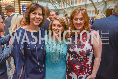 Kimberly McKinnish, Rebecca Spicer, Sharon Pinkerton,  Sean Spicer Book Launch, The Briefing, Trump Hotel, July 26, 2018.  Photo by Ben Droz.