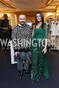Albino Riganello, Abeer Al Otaiba. Photo by Tony Powell. Sem Sem Pop-up. Cafe Milano. October 26, 2018