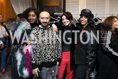 Erica Jones, Albino Riganello, Mona Hamdy, Diya Eggleston. Photo by Tony Powell. Sem Sem Pop-up. Cafe Milano. October 26, 2018