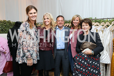 Mae Haney Grennan, Kellyanne Conway, Raul Fernandez, Jean-Marie Fernandez, Toni Verstandig. Photo by Tony Powell. Sem Sem Pop-up. Cafe Milano. October 26, 2018