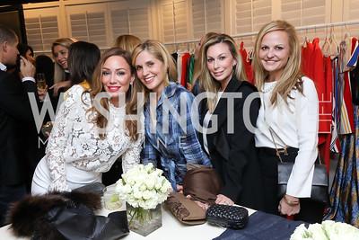 Kristin Cecchi, Stacey Lubar, Stephanie Lemer, Jamie Dorros. Photo by Tony Powell. Sem Sem Pop-up. Cafe Milano. October 26, 2018