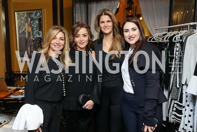 Futoun Attar, Nadine Selim, Lala Abdurahimova, Aisha Al Khalifa. Photo by Tony Powell. Sem Sem Pop-up. Cafe Milano. October 26, 2018