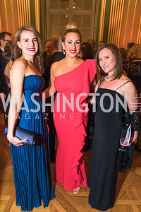 Ingrid Epperly, Elisabeth Tamasi, Andrea Travis. Photo by Alfredo Flores. Sibley Memorial Hospital Foundation's 17th Celebration of Hope & Progress Gala. Andrew W. Mellon Auditorium. March 10, 2018.