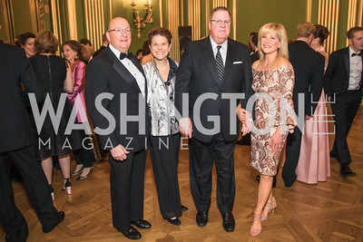 Edward Mopsik, Kaye Appleman Mopsik, Edward Tydings, Dana Tydings,  Photo by Alfredo Flores. Sibley Memorial Hospital Foundation's 17th Celebration of Hope & Progress Gala. Andrew W. Mellon Auditorium. March 10, 2018..dng