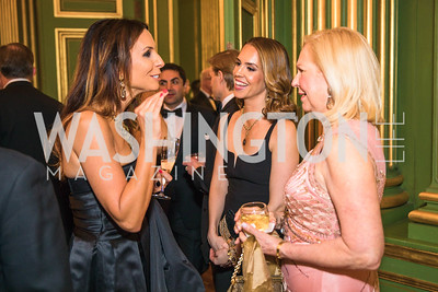 Martine Dubin, Julia Ghafouri, Mary Ehrgood. Photo by Alfredo Flores. Sibley Memorial Hospital Foundation's 17th Celebration of Hope & Progress Gala. Andrew W. Mellon Auditorium. March 10, 2018.