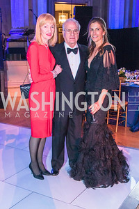 Carla Hoffman, Bill Hoffman, Rachel Sullivan. Photo by Alfredo Flores. Sibley Memorial Hospital Foundation's 17th Celebration of Hope & Progress Gala. Andrew W. Mellon Auditorium. March 10, 2018.