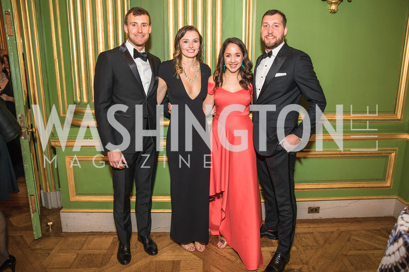 Will Smith, Victoria Smith, Melissa Miller, Matthew Miller,   Photo by Alfredo Flores. Sibley Memorial Hospital Foundation's 17th Celebration of Hope & Progress Gala. Andrew W. Mellon Auditorium. March 10, 2018..dng