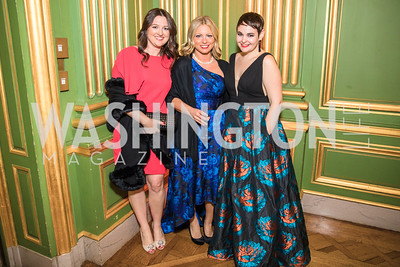 Dede Byrnes, Kristy Strauch, Erin Hernandez,  Photo by Alfredo Flores. Sibley Memorial Hospital Foundation's 17th Celebration of Hope & Progress Gala. Andrew W. Mellon Auditorium. March 10, 2018..dng