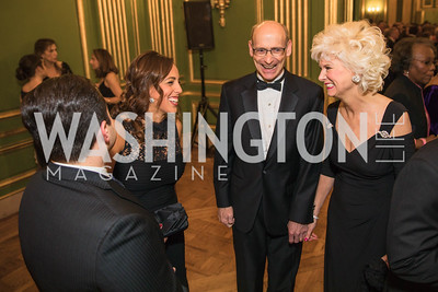 Ziad Ali , Eltaki Nadia, Martin Brown, Becky Brown, . Photo by Alfredo Flores. Sibley Memorial Hospital Foundation's 17th Celebration of Hope & Progress Gala. Andrew W. Mellon Auditorium. March 10, 2018.