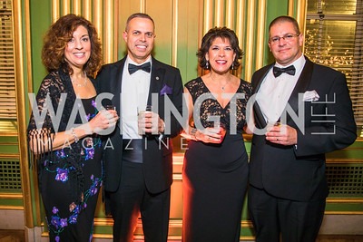Chrys Jaffe, Brian Jaffe, Jeff Davis, Chrissie Davis, Photo by Alfredo Flores. Sibley Memorial Hospital Foundation's 17th Celebration of Hope & Progress Gala. Andrew W. Mellon Auditorium. March 10, 2018.