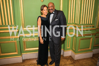 Terri Thompson, Clifford Barnes.  Photo by Alfredo Flores. Sibley Memorial Hospital Foundation's 17th Celebration of Hope & Progress Gala. Andrew W. Mellon Auditorium. March 10, 2018.