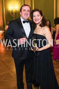 Paul Johnson, Andrea Hulse-Johnson, Photo by Alfredo Flores. Sibley Memorial Hospital Foundation's 17th Celebration of Hope & Progress Gala. Andrew W. Mellon Auditorium. March 10, 2018.