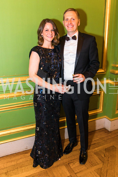 Stephanie Brown,  Matt Brown , Photo by Alfredo Flores. Sibley Memorial Hospital Foundation's 17th Celebration of Hope & Progress Gala. Andrew W. Mellon Auditorium. March 10, 2018.