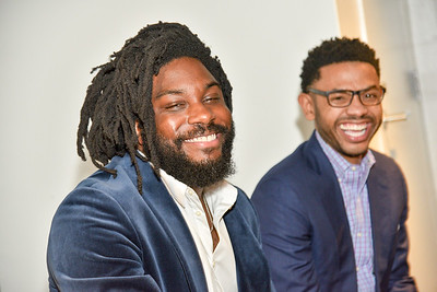 Jason Reynolds, Aaron Holmes, Standing Ovation for DC Public Schools, The Anthem at the Wharf, February 8, 2018. Photo by Ben Droz.