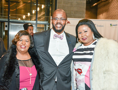 Mrs. Ruben Brown, Chancellor Antwan Wilson, Reesha ScottStanding Ovation for DC Public Schools, The Anthem at the Wharf, February 8, 2018. Photo by Ben Droz.
