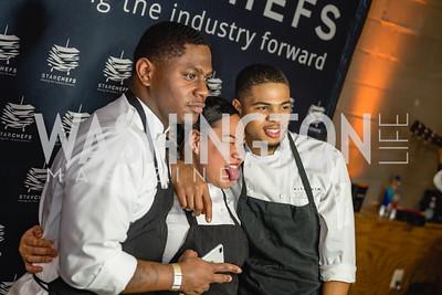 Tyrone Henderson, Aisah Siraj, Treaonne Allen, Kith And Kin Restaurant. 2018 StarChefs Tasting Gala & Awards Ceremony. December 11, 2018. Elyse Cosgrove Photography.ARW