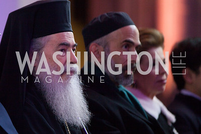 His Beatitude Theophilos III, Patriarch of Jerusalem, His Royal Highness Prince Ghazi Bin Muhammad; Her Royal Highness Princess Firyal Photo by Jay Snap | LaDexon Photographie, Templeton Prize Ceremony, Washington National Cathedral, November  13, 2018