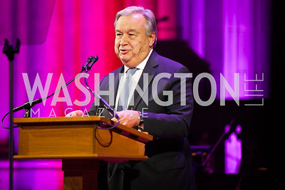 Antionio Guterres, Photo by Jay Snap | LaDexon Photographie, Templeton Prize Ceremony, Washington National Cathedral, November  13, 2018