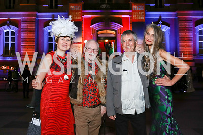 "SAAM Dir. Stephanie Stebich, Stewart Harvey, Burning Man Co-Founder Larry Harvey, Cheryl Edison. Photo by Tony Powell. ""The Art of Burning Man"" Opening. Renwick Gallery. March 29, 2018"