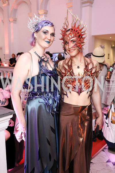 """Rose Ellis, Sophia Constance. Photo by Tony Powell. """"The Art of Burning Man"""" Opening. Renwick Gallery. March 29, 2018"""