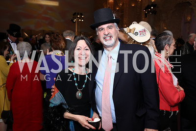 "Allyn Kirin and Acting Freer+Sackler Director Richard Kirin. Photo by Tony Powell. ""The Art of Burning Man"" Opening. Renwick Gallery. March 29, 2018"