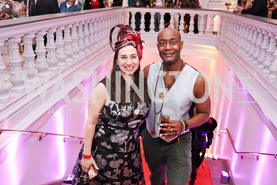 "Amy Hutchins, Seth Armah. Photo by Tony Powell. ""The Art of Burning Man"" Opening. Renwick Gallery. March 29, 2018"