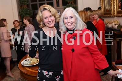"Eliza Graham, Dedre Fiske. Photo by Tony Powell. Thomas Graham ""America, The Founders' Vision"" Book Party. April 3, 2018"