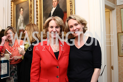 "Kathleen Kennedy Townshend, Eliza Graham. Photo by Tony Powell. Thomas Graham ""America, The Founders' Vision"" Book Party. April 3, 2018"