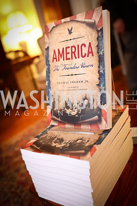 "Photo by Tony Powell. Thomas Graham ""America, The Founders' Vision"" Book Party. April 3, 2018"