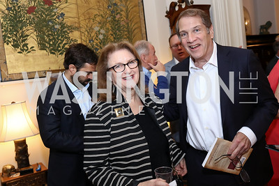 "Judy and Peter Kovler. Photo by Tony Powell. Thomas Graham ""America, The Founders' Vision"" Book Party. April 3, 2018"