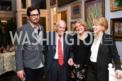 "Tommy Graham, Terry Miller, Eliza Graham, Christine Ryan. Photo by Tony Powell. Thomas Graham ""America, The Founders' Vision"" Book Party. April 3, 2018"