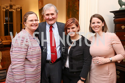 "Amb. Laura Holgate, Thomas Graham, Joyce Connery, Amy Roma. Photo by Tony Powell. Thomas Graham ""America, The Founders' Vision"" Book Party. April 3, 2018"