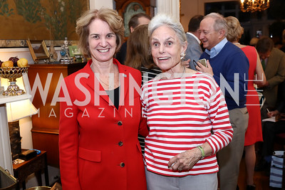 "Kathleen Kennedy Townshend, Hostess Noel Miller. Photo by Tony Powell. Thomas Graham ""America, The Founders' Vision"" Book Party. April 3, 2018"