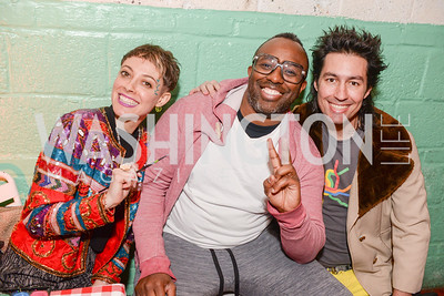 Rose Jaffe, Sheldon Scott, Niko Sommaripa, Transformer's 2nd Annual Heartbreaker's Ball, Comet Ping Pong, February 17, 2018, photo by Ben Droz.