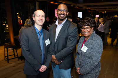 Brandon Leonard, Joshua Johnson, Valerie Morris. WAMU 1A celebrates their 1st Anniversary at District Winery on February 6, 2018. Photography by Joy Asico