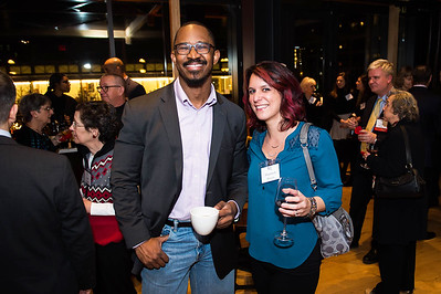 Joshua Johnson, Shannon Pecora. WAMU 1A celebrates their 1st Anniversary at District Winery on February 6, 2018. Photography by Joy Asico