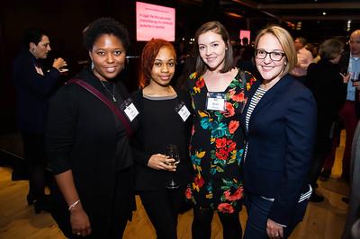 Jane Floyd, Ebony Gibbs, Molly Porter, Jessica Zetzman. WAMU 1A celebrates their 1st Anniversary at District Winery on February 6, 2018.  Photography by Joy Asico