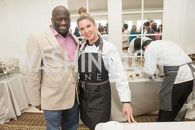 Jeff Ballou, Chef Casey Thompson, WHCD Weekend, Thomson Reuters Brunch, Hay Adams, Apri 29, 2018. Photo by Ben Droz.