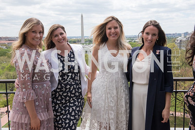 Sarah Flaherty, Caitlin Donahue, Christin Fernandez, Lindsay Walters, WHCD Weekend, Thomson Reuters Brunch, Hay Adams, Apri 29, 2018. Photo by Ben Droz.