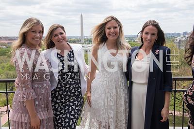 Sarah Flaherty, Caitlin Donahue, Christin Fernandez, Lindsay Walters, WHCD Weekend, Thomson Reuters Brunch, Hay Adams, Apri 29, 2018. Photo by Ben Droz.