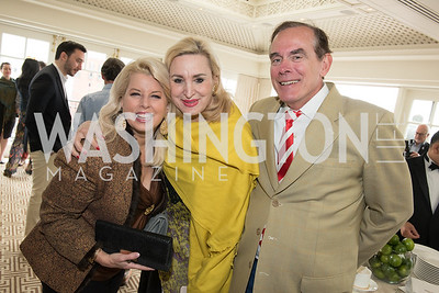 Rita Cosby, Christine Warnke, David Short, WHCD Weekend, Thomson Reuters Brunch, Hay Adams, Apri 29, 2018. Photo by Ben Droz.
