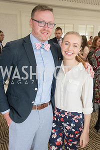 Christopher Bedford, Katie Frates, WHCD Weekend, Thomson Reuters Brunch, Hay Adams, Apri 29, 2018. Photo by Ben Droz.