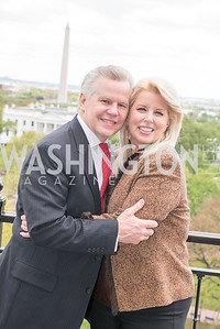 Tomaczek Bednarek, Rita Cosby, WHCD Weekend, Thomson Reuters Brunch, Hay Adams, Apri 29, 2018. Photo by Ben Droz.